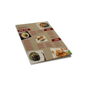 A3 Kraft Folded Menu
