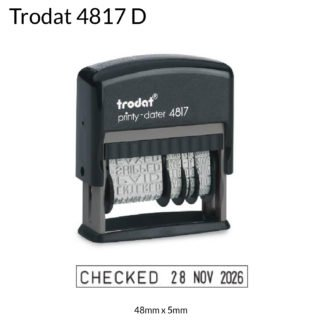 dial a phrase date stamps Trodat