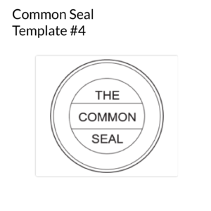 Common Seal Template 4